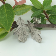 Little oak leaf earrings
