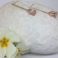 Rose gold vermeil poppy earrings