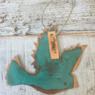 Dove verdigris copper decoration
