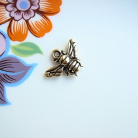 Tierracast Antiqued Gold Honey Bee Charm