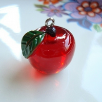 Juicy Red Apple Pendant