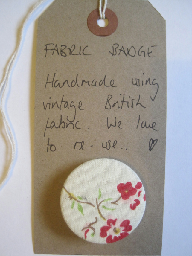 Vintage Fabric Pin Badge