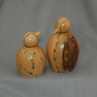 Dad and Babe Penguins in English Spalted Beech