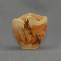 Wave Bowl in English Yew