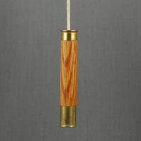 Sporting Stained Oak and Brass Light Pull