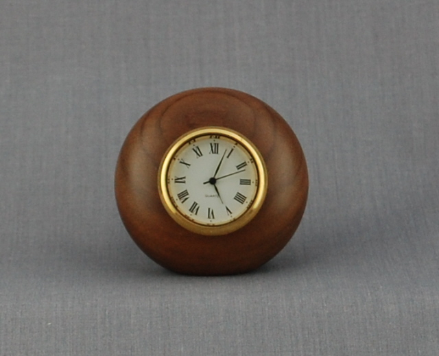 Pebble Clock in Walnut