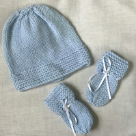 Newborn baby Hat & Mitts Set,