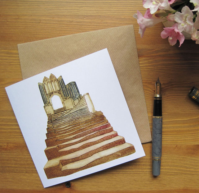 Cathedral Steps greetings card