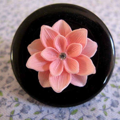 funky pink flower ring