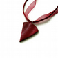 Ombre Pendant - Striped Blend of Burgundy Red Silver Grey Shades - Voile Ribbon