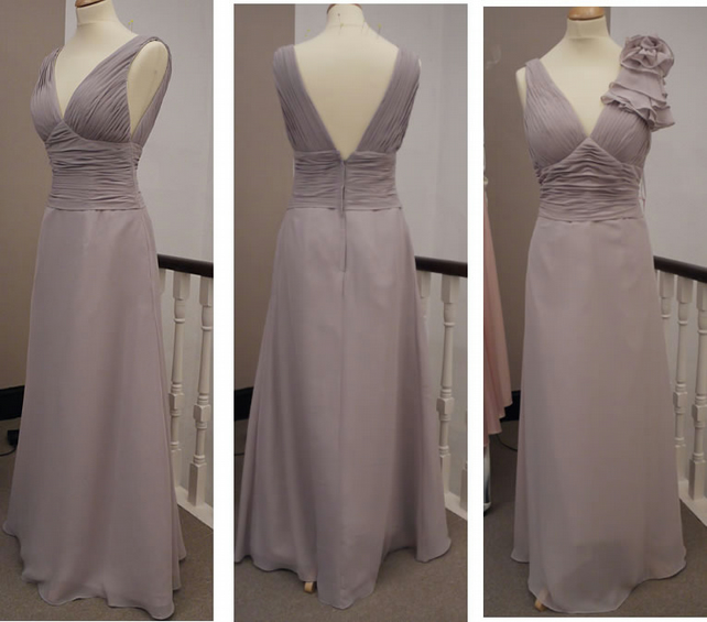 Dove Grey Bridesmaid Dresses Folksy