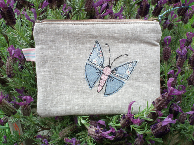Butterfly applique purse - SALE 50% OFF
