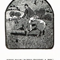 The boy who rode a pig