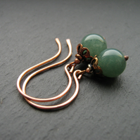 Green Aventurine Stone Earrings