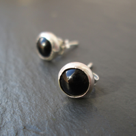 Black Onyx Stud Earrings - Gemstone Studs, Gifts for Women, Everyday Jewellery
