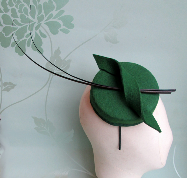 Green Pillbox Hat - Green Hat c155a3a323c