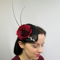 Ladies Perch Hat  - Victoriana Inspired Hat, Ascot, Races, Wedding, Occasion Hat