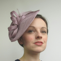 Lilac Fascinator Hat - Wedding Headpiece, Races Hat, Hair Accessory