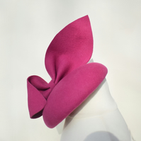 MARIE Pink Felt Occasion Hat - Womens Wedding Hat - Races Hat