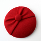 Mini Red Fascinator Hat - Wedding, Tea Party Hat, Vintage Retro Style