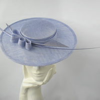 GRACE Blue Ladies Wedding Occasion Hat