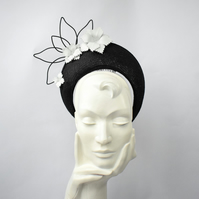 Halo Crown SERENA black headpiece - statement hat