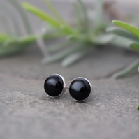 Black Onyx Stud Earrings