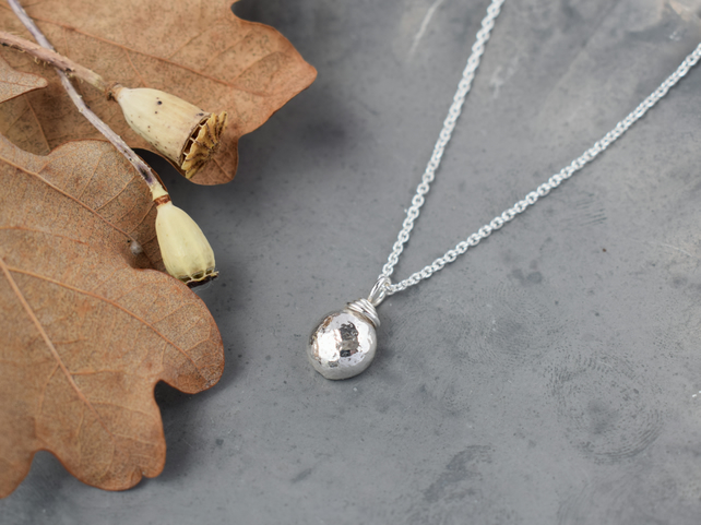 Silver Nugget Necklace - Gift for Women - Letterbox Gift