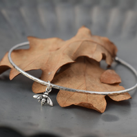 Sterling Silver Bee Bracelet  - Bee Jewellery handmade in Yorkshire
