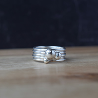 Sterling Silver Stacking Rings DEWDROPS - Jewellery Handmade in Yorkshire