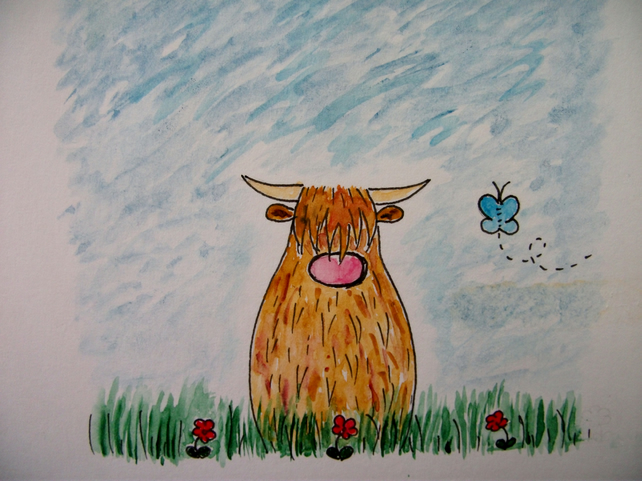 Hairy coo valentines card