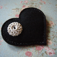 Heart with vintage button