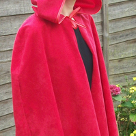 Red Riding Hood Cape for adult in colours white black blue grey brown pink green