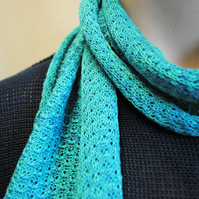 Pure Cotton Lacy Scarf in Gem