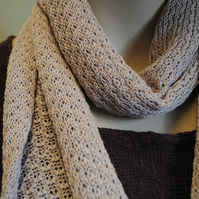 Pure Cotton Lacy Scarf in Clover