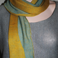 Two-Tone Scarf in Pure Merino Wool -  Autumn Gold & Duck Egg Blue