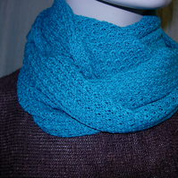 Pure Cotton Snood in Teal