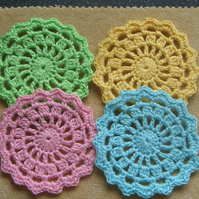 Cotton Crochet Coaster Set