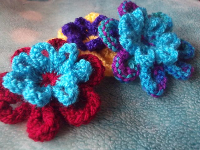 Knitting Patterns For Beginners Step By Step : PATTERN - Knitted Flower Starter Pattern: Step ... - Folksy