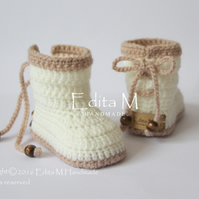 Unisex baby booties, baby shoes, FREE SHIPPING, baby booties, gift