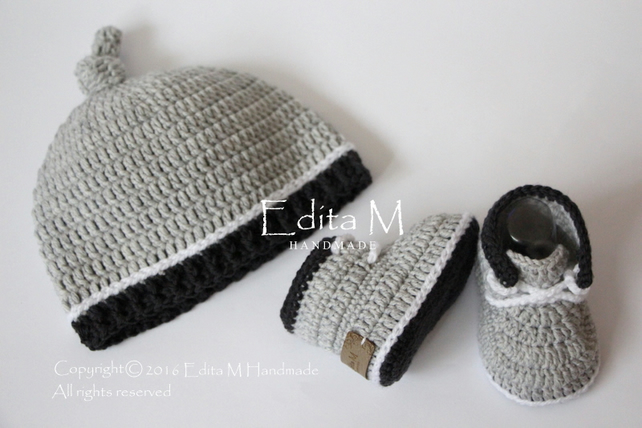 6365b4330 Baby set, baby shoes, hat, beanie, sneakers, 0-3 months, gift for baby