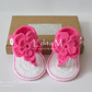 Crochet baby gladiator sandals, baby slippers, flower, baby booties, baby shoes