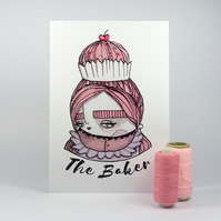 'The Baker' Artwork Poster Print