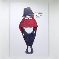 'Iawn boi?' Welsh lady Small Poster Print