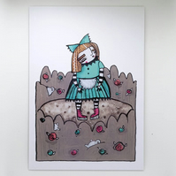 'Alice in Wonderland' Small Poster Print