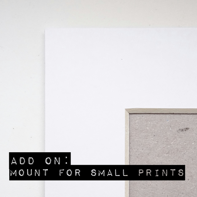 Add on: White 8x10 Mount for Twinkle & Gloom Prints.