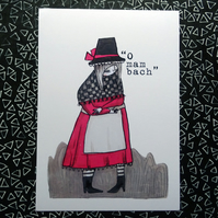 'O Mam bach' Alternative Welsh lady Poster Print