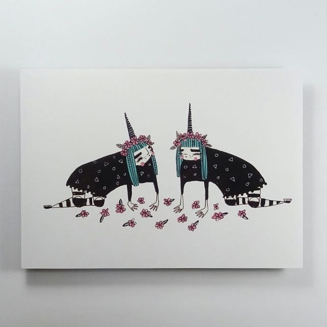 'Unicorn dreams' Small Poster Print