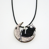 'Moon Girl' Wood necklace.