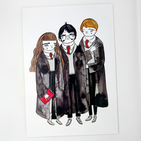 Harry Potter fan art- Large Poster Print